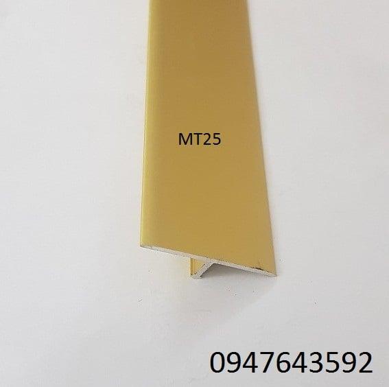 Nẹp chữ T 25mm màu vàng mờ