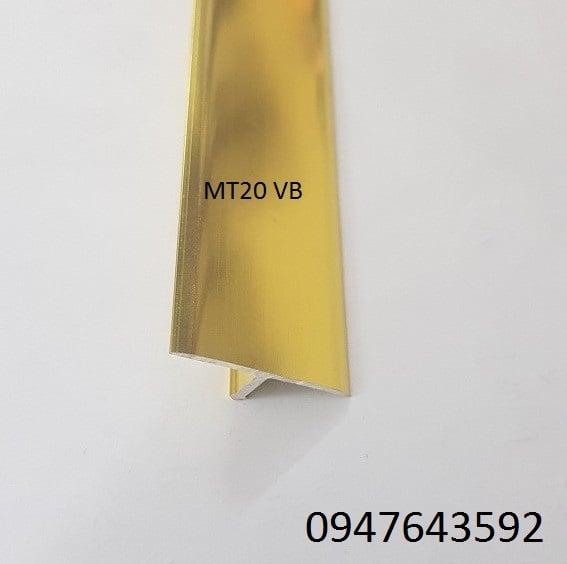 Nẹp chữ T 20mm màu vàng bóng