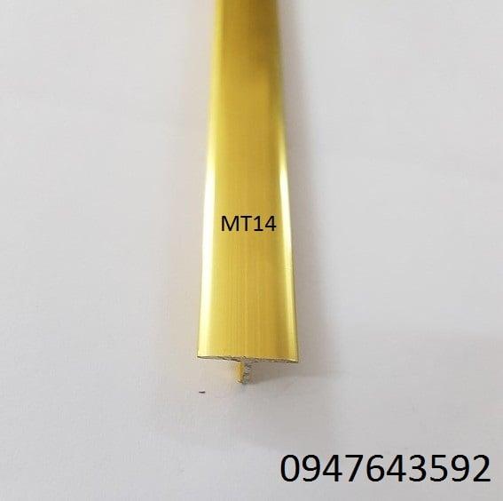 Nẹp chữ T 14mm màu vàng bóng