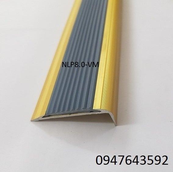 Nẹp chống trơn NLP8.0 màu vàng mờ
