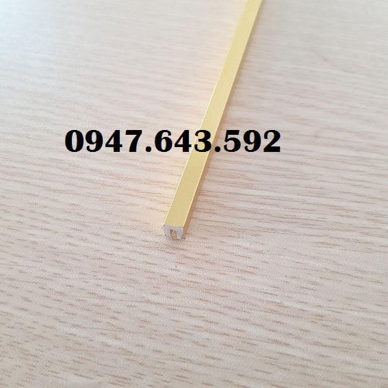 nẹp chữ u 5mm màu vàng bóng